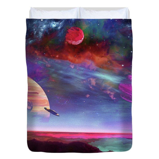 New Planet Geo-mapping - Duvet Cover - Full - Duvet Cover