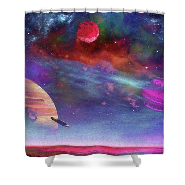 New Planet Geo-mapping - Shower Curtain - 71 x 74 Standard - Shower Curtain