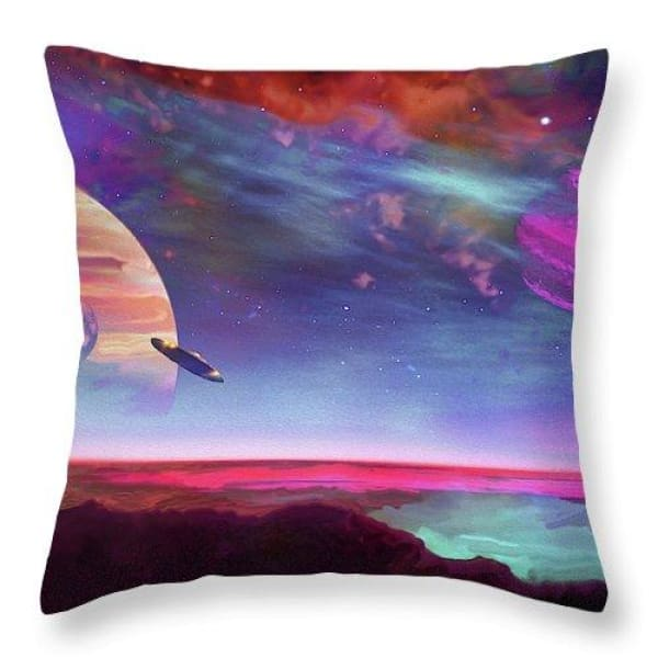 New Planet Geo-mapping - Throw Pillow - 18 x 18 / Yes - Throw Pillow