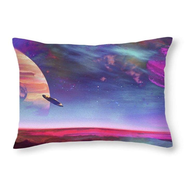 New Planet Geo-mapping - Throw Pillow - 20 x 14 / No - Throw Pillow