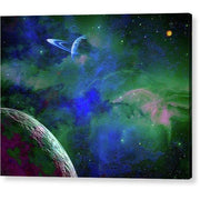 Planet Companion - Acrylic Print - 8.000 x 6.000 / Hanging Wire - Acrylic Print