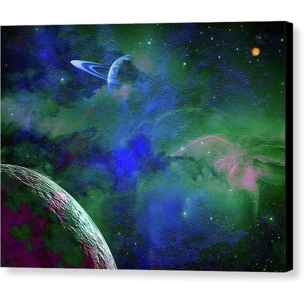 Planet Companion - Canvas Print - 8.000 x 6.000 / Black / Glossy - Canvas Print
