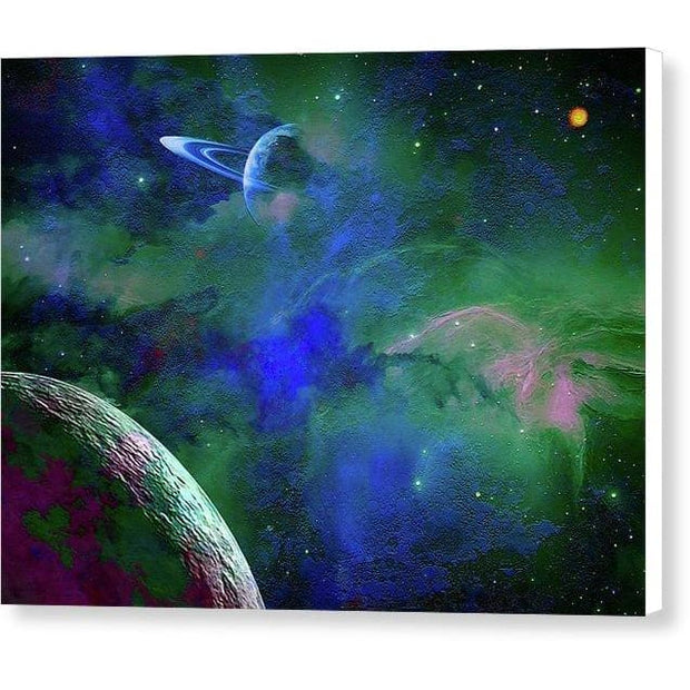 Planet Companion - Canvas Print - 8.000 x 6.000 / White / Glossy - Canvas Print