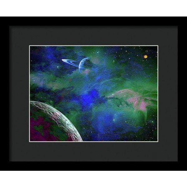 Planet Companion - Framed Print - 12.000 x 9.000 / Black / Black - Framed Print