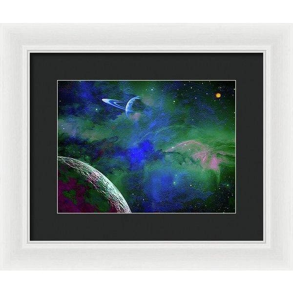Planet Companion - Framed Print - 12.000 x 9.000 / White / Black - Framed Print