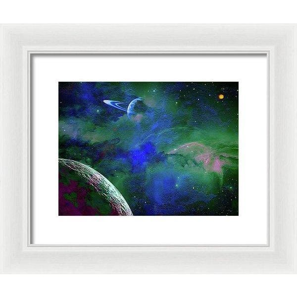 Planet Companion - Framed Print - 12.000 x 9.000 / White / White - Framed Print