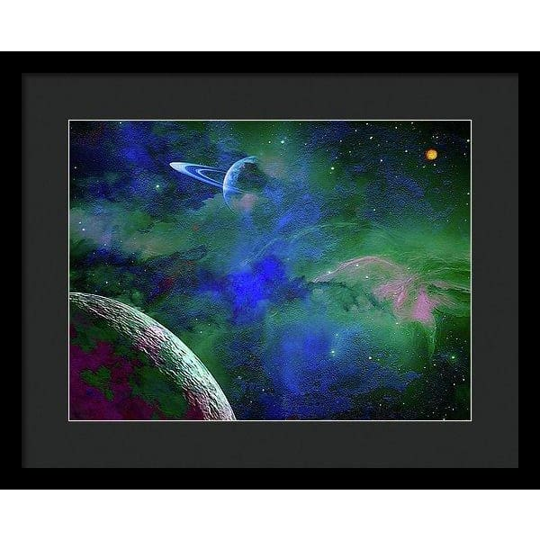 Planet Companion - Framed Print - 16.000 x 12.000 / Black / Black - Framed Print