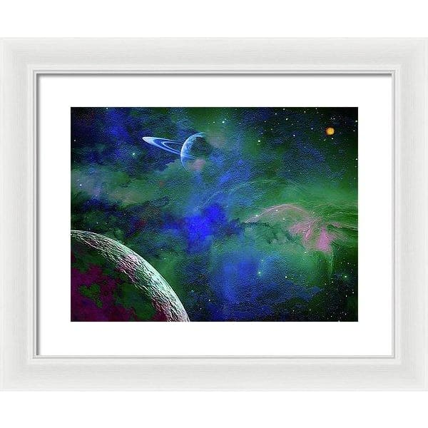 Planet Companion - Framed Print - 16.000 x 12.000 / White / White - Framed Print