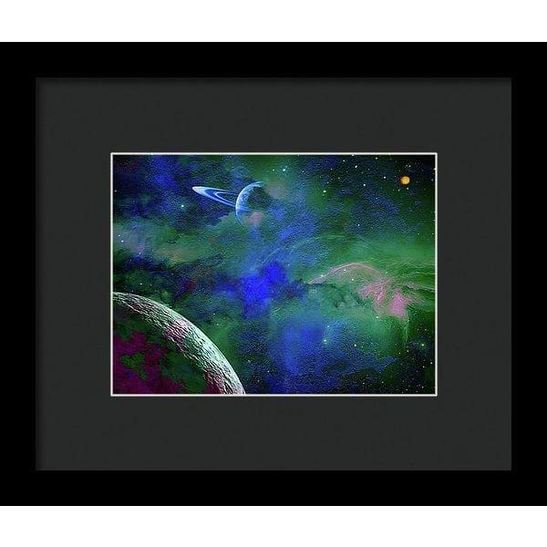 Planet Companion - Framed Print - 8.000 x 6.000 / Black / Black - Framed Print