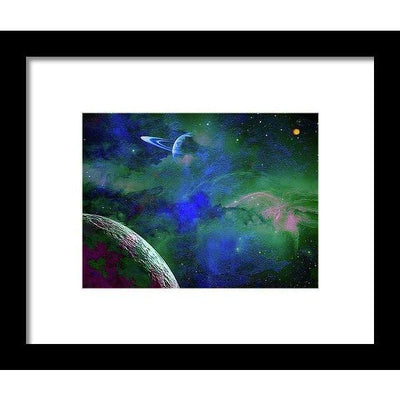 Planet Companion - Framed Print - 8.000 x 6.000 / Black / White - Framed Print