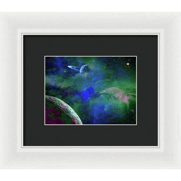 Planet Companion - Framed Print - 8.000 x 6.000 / White / Black - Framed Print