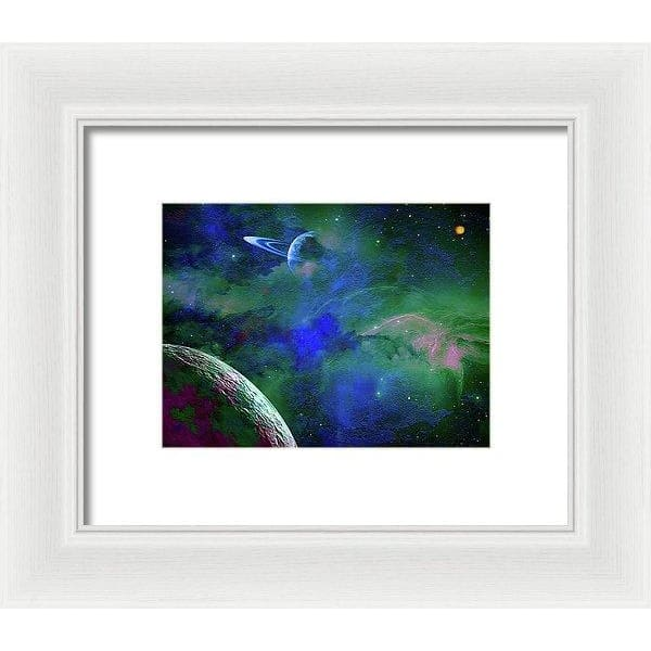 Planet Companion - Framed Print - 8.000 x 6.000 / White / White - Framed Print