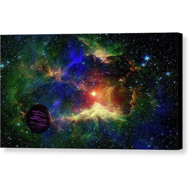 Planet Outcast - Canvas Print - 16.000 x 9.000 / Black / Glossy - Canvas Print