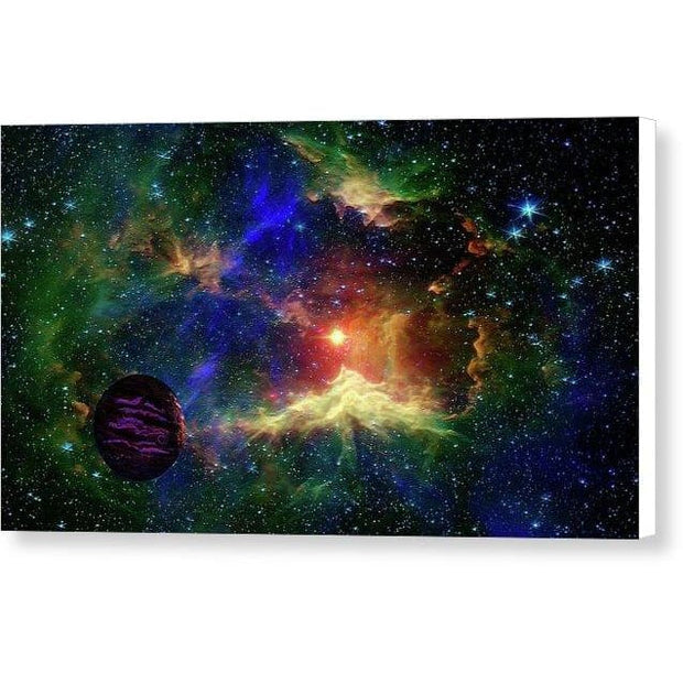 Planet Outcast - Canvas Print - 16.000 x 9.000 / White / Glossy - Canvas Print