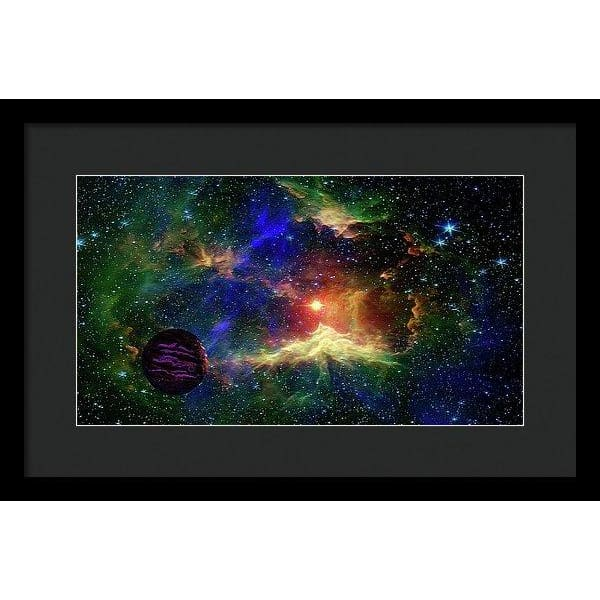 Planet Outcast - Framed Print - 16.000 x 9.000 / Black / Black - Framed Print
