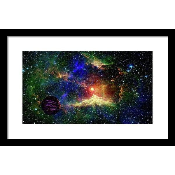 Planet Outcast - Framed Print - 16.000 x 9.000 / Black / White - Framed Print