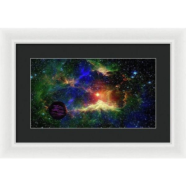 Planet Outcast - Framed Print - 16.000 x 9.000 / White / Black - Framed Print