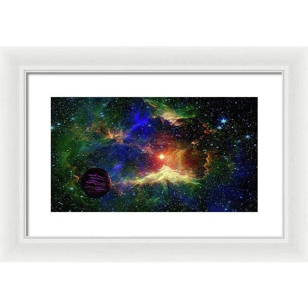 Planet Outcast - Framed Print - 16.000 x 9.000 / White / White - Framed Print