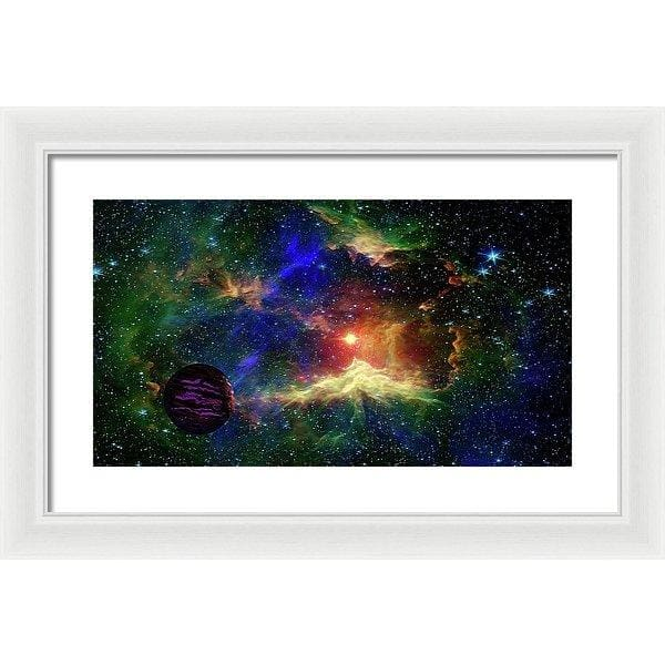 Planet Outcast - Framed Print - 20.000 x 11.250 / White / White - Framed Print