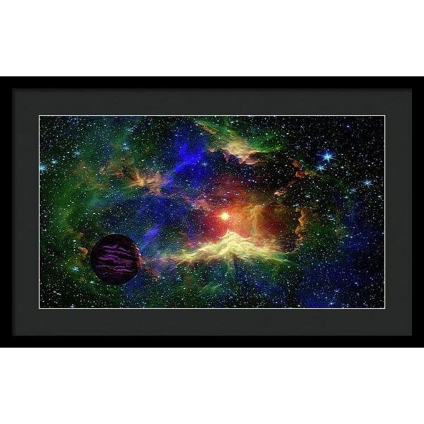 Planet Outcast - Framed Print - 24.000 x 13.500 / Black / Black - Framed Print