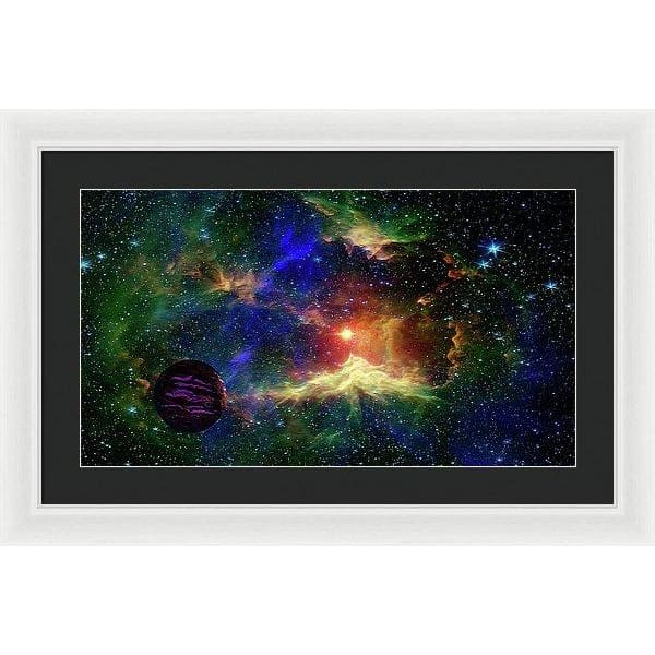 Planet Outcast - Framed Print - 24.000 x 13.500 / White / Black - Framed Print
