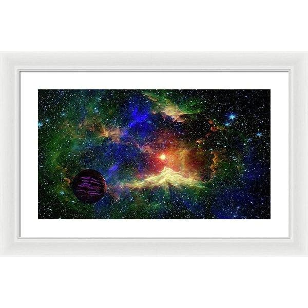 Planet Outcast - Framed Print - 24.000 x 13.500 / White / White - Framed Print