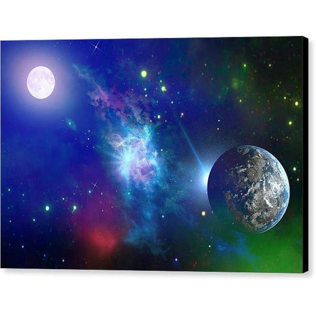 Planet View - Canvas Print - 12.000 x 8.000 / Black / Glossy - Canvas Print