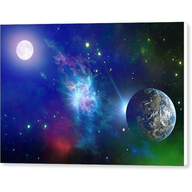 Planet View - Canvas Print - 12.000 x 8.000 / White / Glossy - Canvas Print
