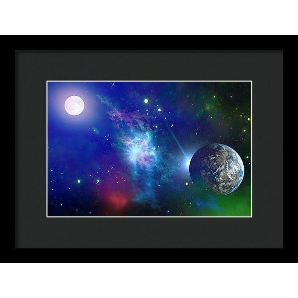 Planet View - Framed Print - 12.000 x 8.000 / Black / Black - Framed Print