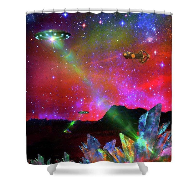 Power Crystal Hunting - Shower Curtain - 71 x 74 Standard - Shower Curtain