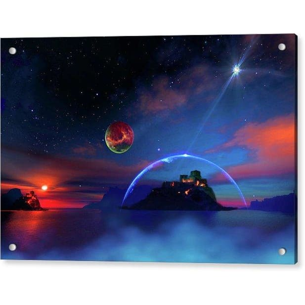 Private Planet - Acrylic Print - 12.000 x 8.000 / Aluminum Mounting Posts - Acrylic Print