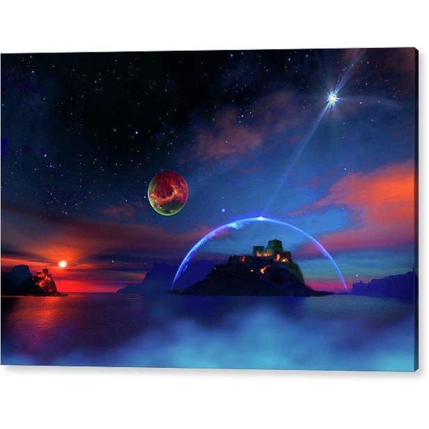 Private Planet - Acrylic Print - 12.000 x 8.000 / Hanging Wire - Acrylic Print