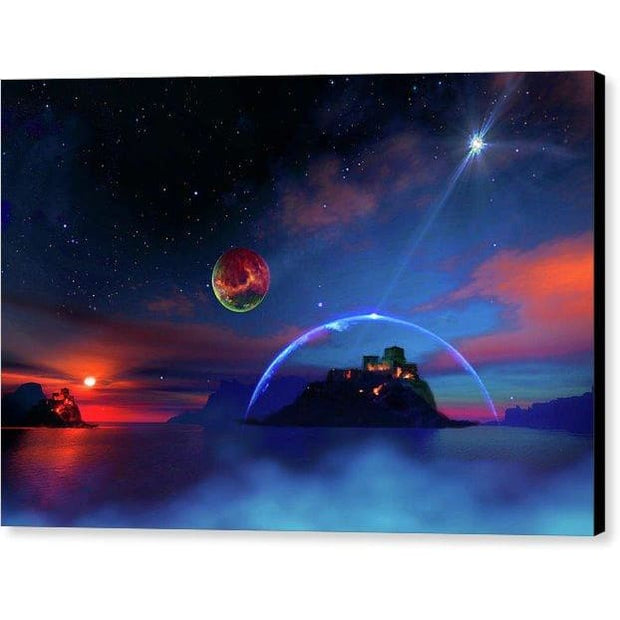 Private Planet - Canvas Print - 12.000 x 8.000 / Black / Glossy - Canvas Print