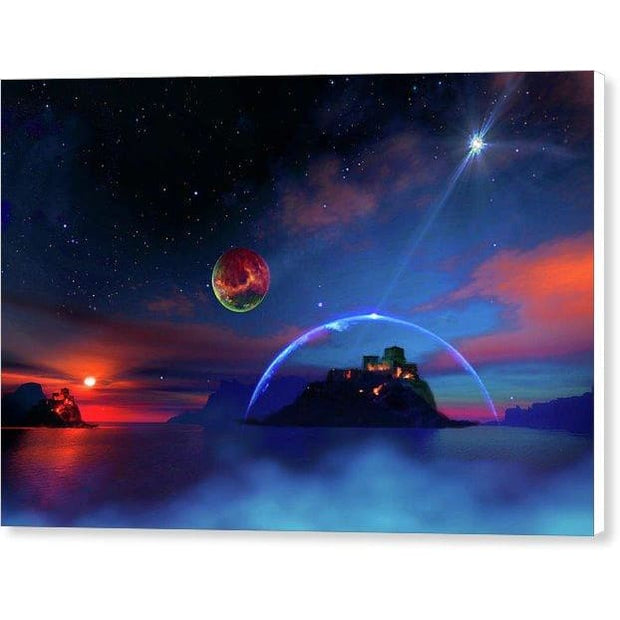 Private Planet - Canvas Print - 12.000 x 8.000 / White / Glossy - Canvas Print