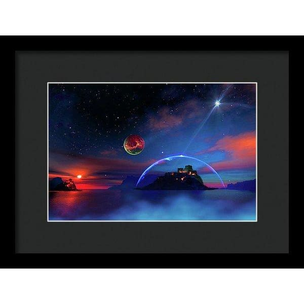 Private Planet - Framed Print - 12.000 x 8.000 / Black / Black - Framed Print