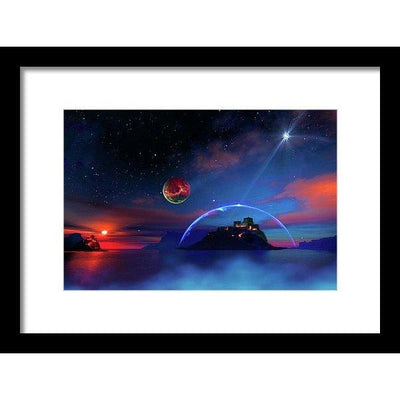 Private Planet - Framed Print - 12.000 x 8.000 / Black / White - Framed Print