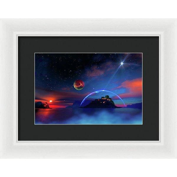 Private Planet - Framed Print - 12.000 x 8.000 / White / Black - Framed Print
