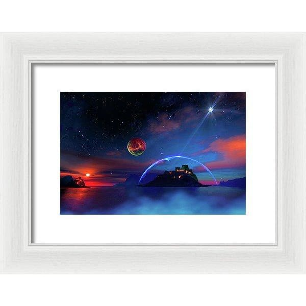 Private Planet - Framed Print - 12.000 x 8.000 / White / White - Framed Print