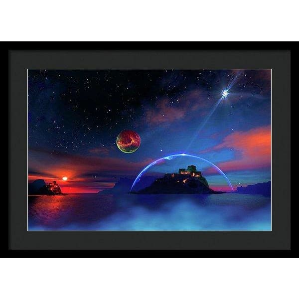 Private Planet - Framed Print - 24.000 x 16.000 / Black / Black - Framed Print