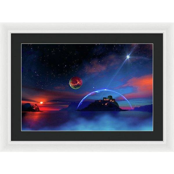 Private Planet - Framed Print - 24.000 x 16.000 / White / Black - Framed Print