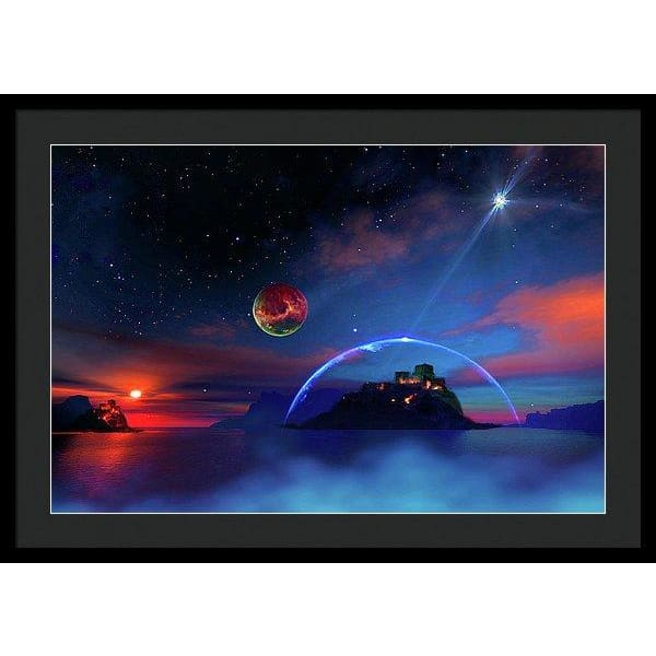 Private Planet - Framed Print - 30.000 x 20.000 / Black / Black - Framed Print
