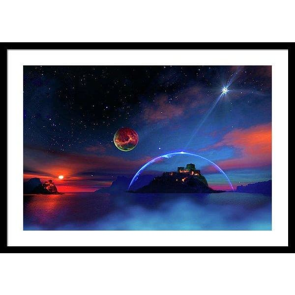 Private Planet - Framed Print - 30.000 x 20.000 / Black / White - Framed Print