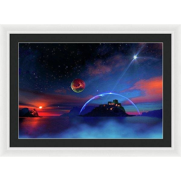 Private Planet - Framed Print - 30.000 x 20.000 / White / Black - Framed Print