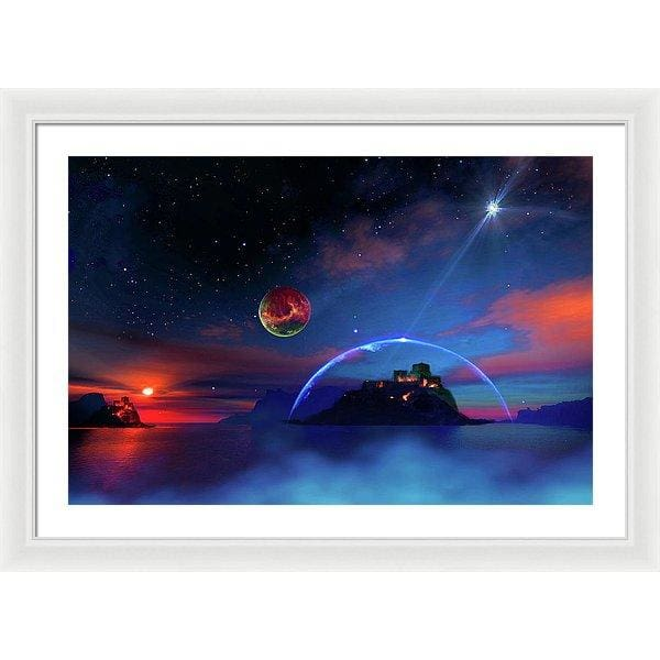 Private Planet - Framed Print - 30.000 x 20.000 / White / White - Framed Print