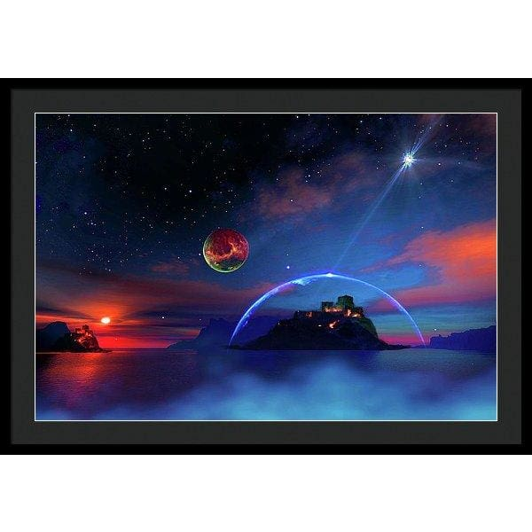 Private Planet - Framed Print - 36.000 x 24.000 / Black / Black - Framed Print