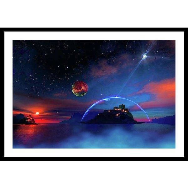 Private Planet - Framed Print - 36.000 x 24.000 / Black / White - Framed Print