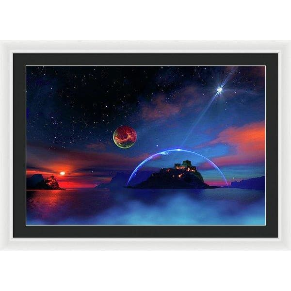Private Planet - Framed Print - 36.000 x 24.000 / White / Black - Framed Print