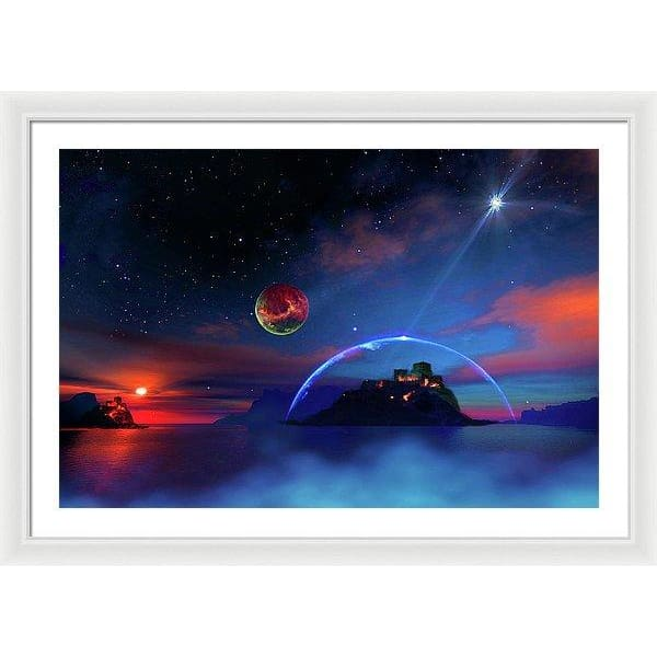 Private Planet - Framed Print - 36.000 x 24.000 / White / White - Framed Print