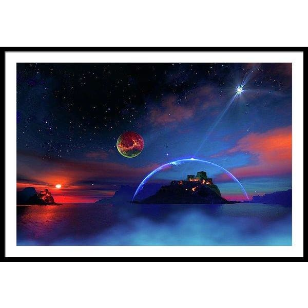Private Planet - Framed Print - 48.000 x 32.000 / Black / White - Framed Print