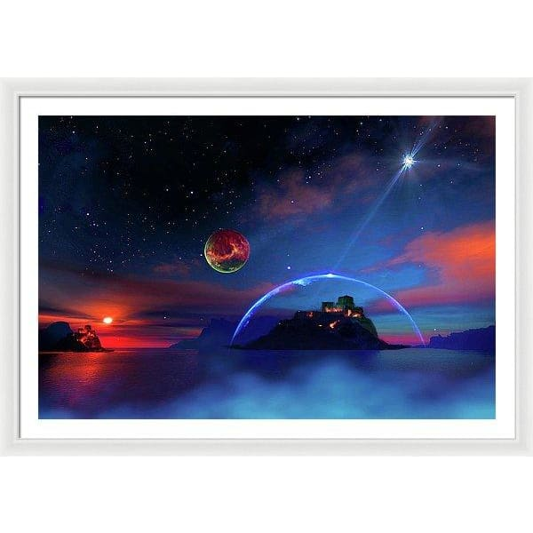 Private Planet - Framed Print - 48.000 x 32.000 / White / White - Framed Print